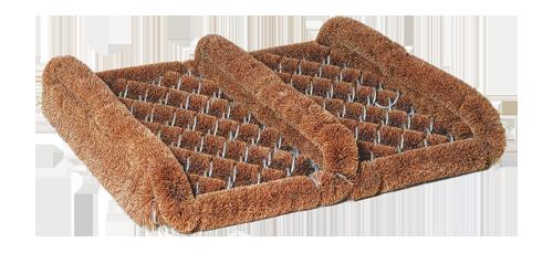 coconut doormat with side scrapers