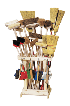 children´s cleaning utensils in sales stand