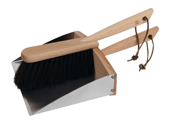 dustpan/hand brush set with magnet