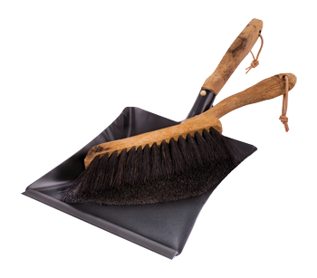 "hand brush and dustpan set ""vintage"""