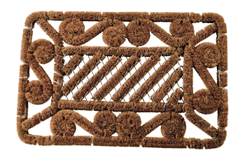 wire reinforced coconut doormat