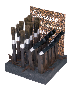 espresso maker brush display