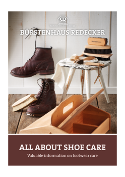 """brochure """"All about shoe care"""""""